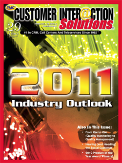 Customer Interaction Solutions Magazine January 2011