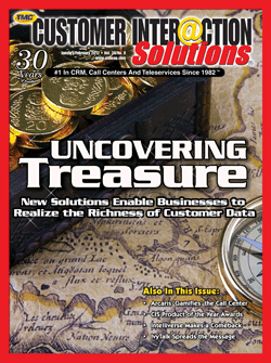 Customer Interaction Solutions Magazine January 2012