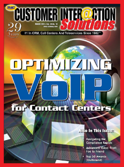 Customer Interaction Solutions Magazine March 2011