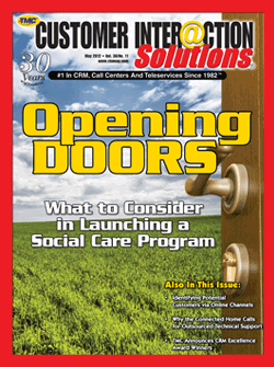 Customer Interaction Solutions Magazine May 2012