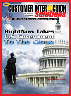 Customer Interaction Solutions Magazine June 2010