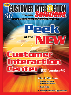 Customer Interaction Solutions Magazine June 2011