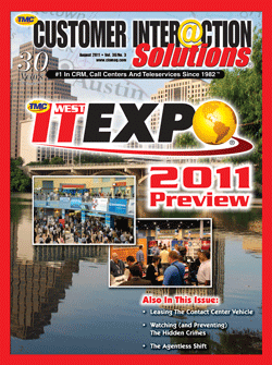 Customer Interaction Solutions Magazine August 2011