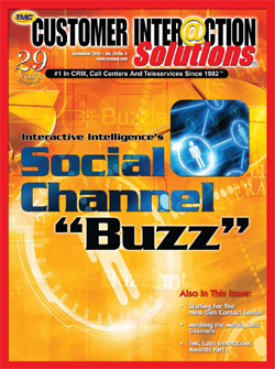 Customer Interaction Solutions Magazine September 2010