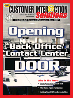 Customer Interaction Solutions Magazine September 2011