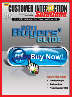 Customer Interaction Solutions Magazine December 2010
