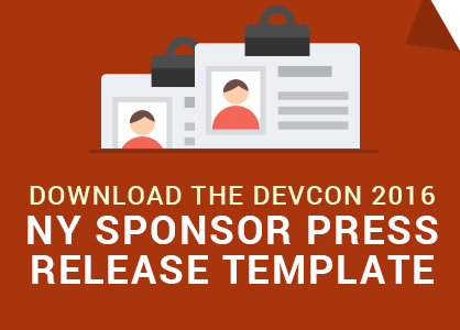 Download the DevCon NY Sponsor Press Release Template