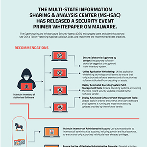 The Multi-State Information Sharing & Analysis Center (MS-ISAC) has released a Security Event Primer Whitepaper on Malware.