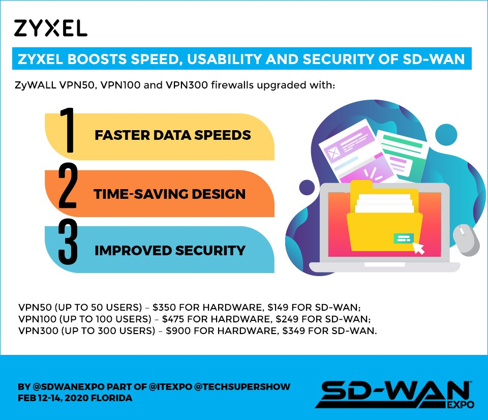 Zyxel Boosts Speed, Usability and Security of SD-WAN - Zyxel