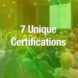 -	7 Unique Certifications