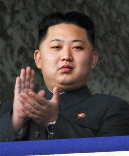 North Korea leader Kim Jong Il's son Kim Jong Un attends a massive military parade marking the 65th anniversary of the communist nation's ruling Workers' Party in Pyongyang, North Korea on Sunday, Oct. 10, 2010. This year's celebration comes less than two weeks after Kim Jong Il's re-election to the party's top post and the news that his 20-something son would succeed his father and grandfather as leader. (AP Photo/Kyodo News) ** JAPAN OUT, MANDATORY CREDIT, FOR COMMERCIAL USE ONLY IN NORTH AMERICA **