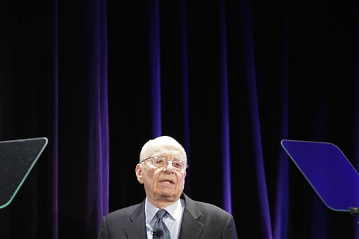 Rupert Murdoch, Chairman and CEO of News Corporation, attends the launch of The Daily, Wednesday, Feb. 2, 2011, in New York. The Daily is the world's first iPad-only newspaper. (AP Photo/Mark Lennihan)