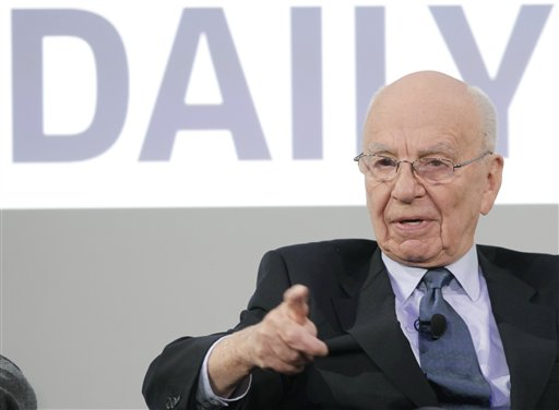 Rupert Murdoch, Chairman and CEO of News Corporation, attends the launch of The Daily, Wednesday, Feb. 2, 2011 in New York. The Daily is the world's first iPad-only newspaper. (AP Photo/Mark Lennihan)