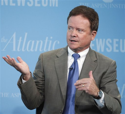 FILE - In this Oct. 1, 20101 file photo, Sen. Jim Webb, D-Va. speaks at the Newseum in Washington. The first-term Democratic says he will retire when his term is up next year. (AP Photo/Manuel Balce Ceneta, File)
