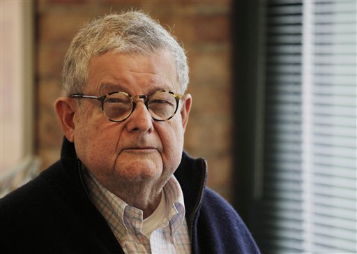 In this photo taken Feb. 16, 2011, Stanley Tigerman, one of Chicago�s renowned architects, poses at his office in Chicago. Tigerman was interviewed by The Associated Press on the challenges that will face Chicago's next mayor. The election is Feb. 22, 2011.(AP Photo/M. Spencer Green)