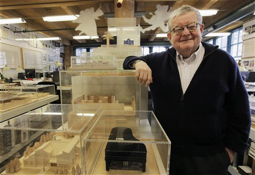 In this photo taken Feb. 16, 2011, Stanley Tigerman, one of Chicago�s renowned architects, poses at his office in Chicago. Tigerman was interviewed by The Associated Press on the challenges that will face Chicago's next mayor. The election is Feb. 22, 2011. (AP Photo/M. Spencer Green)