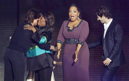 patti labelle on oprah farewell. Oprah Winfrey reacts as she is