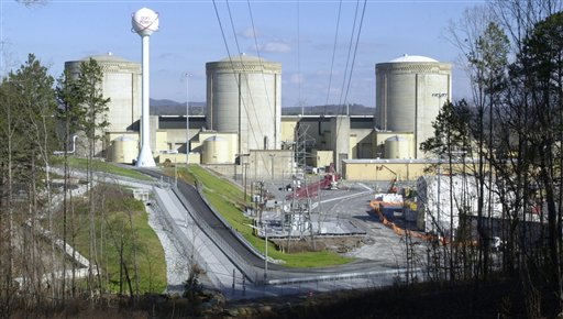 FILE - This Saturday, Jan. 8, 2005 file picture shows the Oconee Nuclear Station in Seneca, S.C. - one of the oldest nuclear power plants in the United States. Federal regulators have been working closely with the nuclear power industry to keep the nation's aging reactors operating within safety standards by repeatedly weakening those standards, or simply failing to enforce them, an investigation by The Associated Press has found. Time after time, officials at the U.S. Nuclear Regulatory Commission have decided that original regulations were too strict, arguing that safety margins could be eased without peril, according to records and interviews. (AP Photo/Mary Ann Chastain)