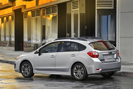 This product image courtesy of Subaru shows the 2012 Subaru Impreza. Subaru of America, Inc. today reported record vehicle sales for 2011 of 266,989. Subaru has now posted sales records in each of the past three years and Subaru is the only manufacturer in the US to have posted four successive years of sales growth. (AP Photo/Subaru)