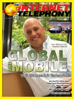 Going Global and Mobile with Metaswitch Networks