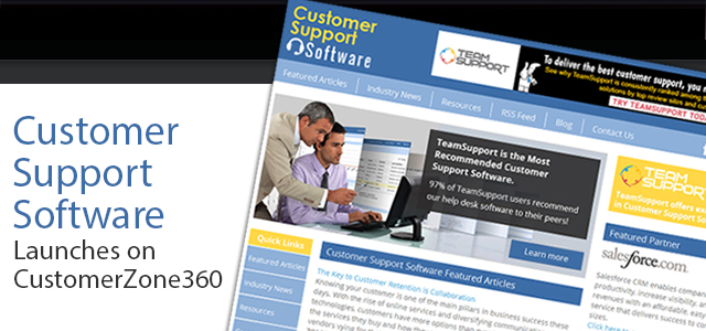 Customer Support Software Launches on CustomerZone360
