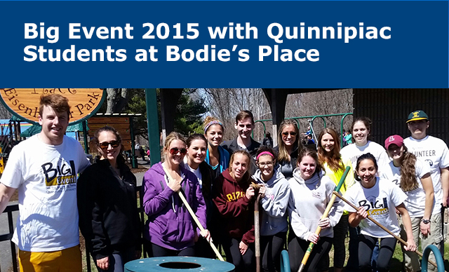 Big Event 2015 with Quinnipiac Students at Bodie's Place
