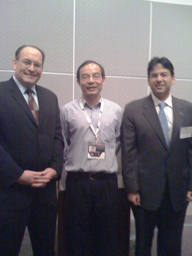 (L to R): David Yedwab, XD Huang, Rich Tehrani