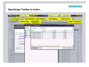 Siemens' OpenScape Unified Communications Solution Screenshot
