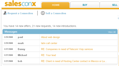 Salesconx Screenshot