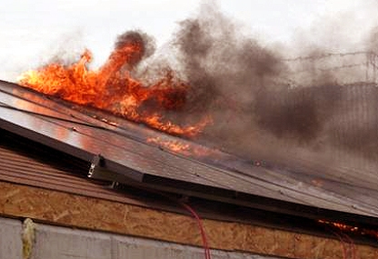 Shocker Firefighters Report That Solar Roofs Pose