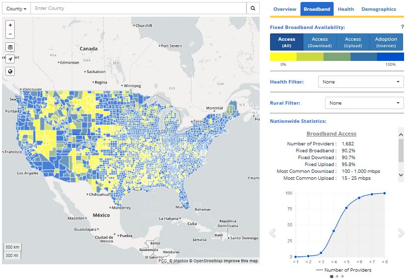 FCC Maps Offer A View Of Broadband Health In The US - Us braodband map