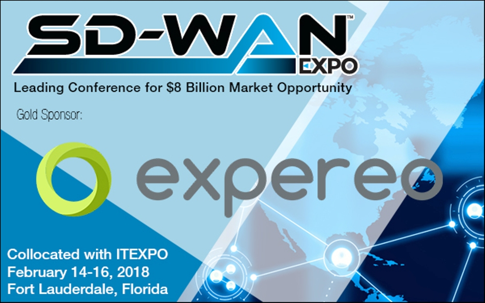 Expereo Joins SD-WAN Expo in Fort Lauderdale, Florida as a Gold Sponsor