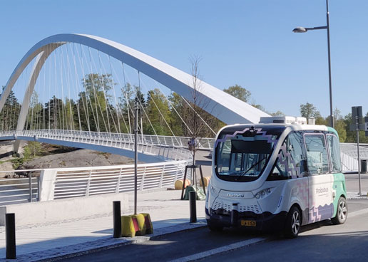 Automated Buses Run to the Beach in Helsinki, Finland
